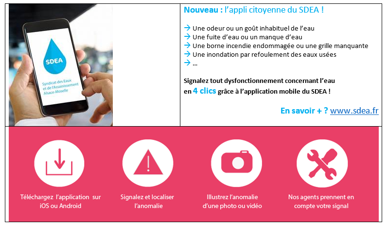 L'application citoyenne du SDEA !